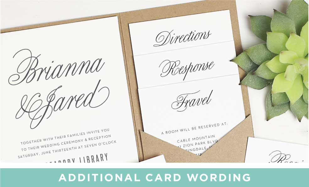 Enclosure Card Wording