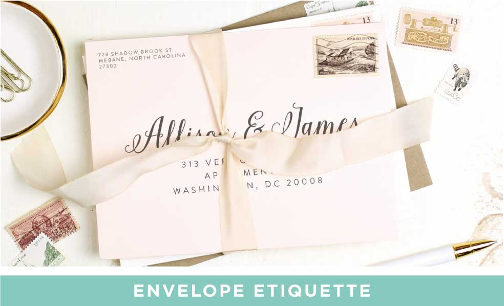 Wedding Invitation Envelope Etiquette