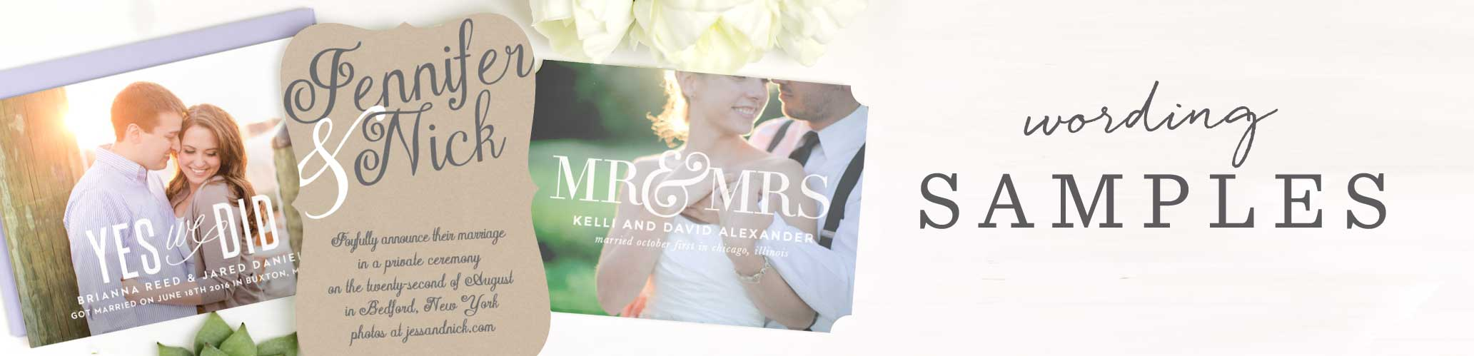 Wedding Invitation Wording Exammples