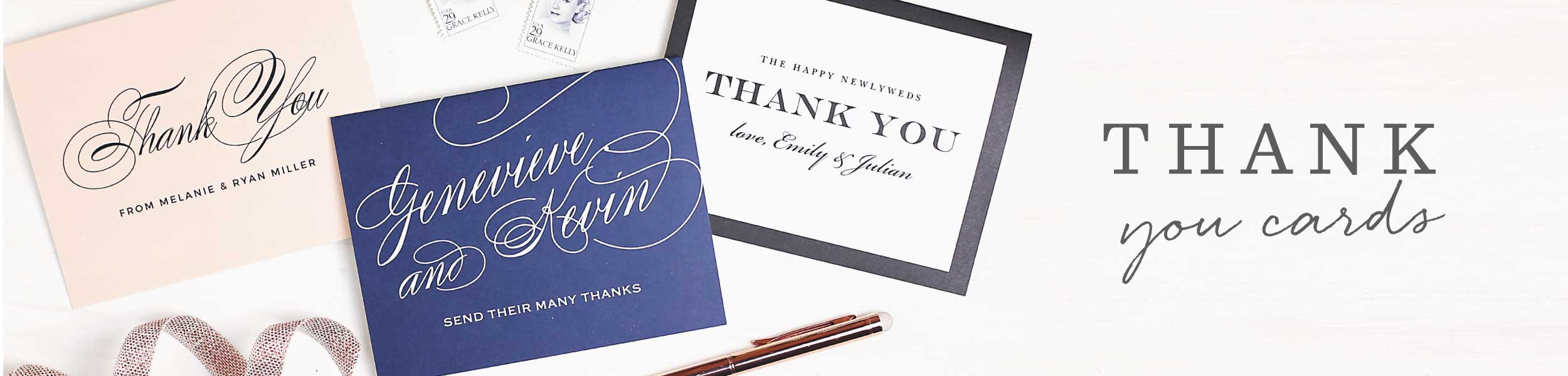 Wedding Thank You Cards & Wedding Thank You Notes by Basic Invite