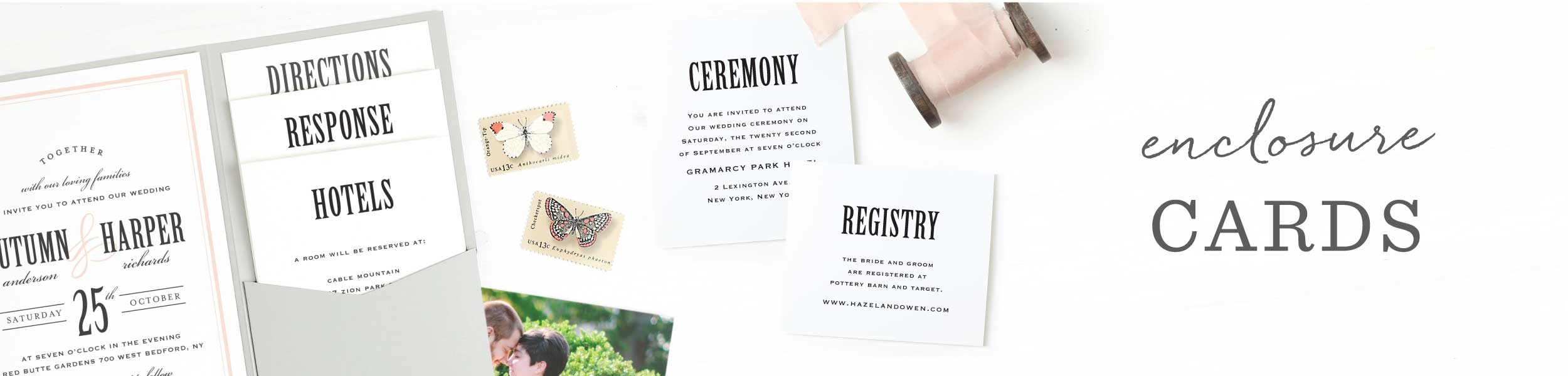 Wedding Enclosure Cards by Basic Invite
