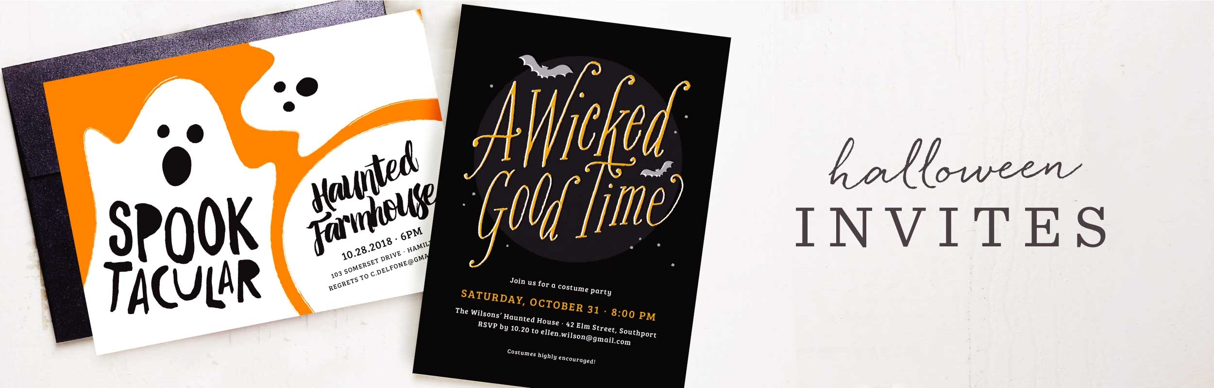Halloween Party Invitations | Instant Previews with Your Photos ...