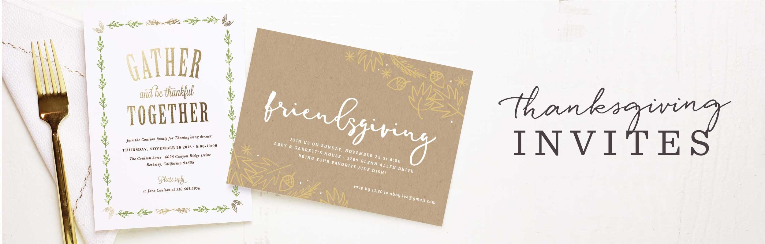Thanksgiving Invitations & Friendsgiving Invitations | BasicInvite