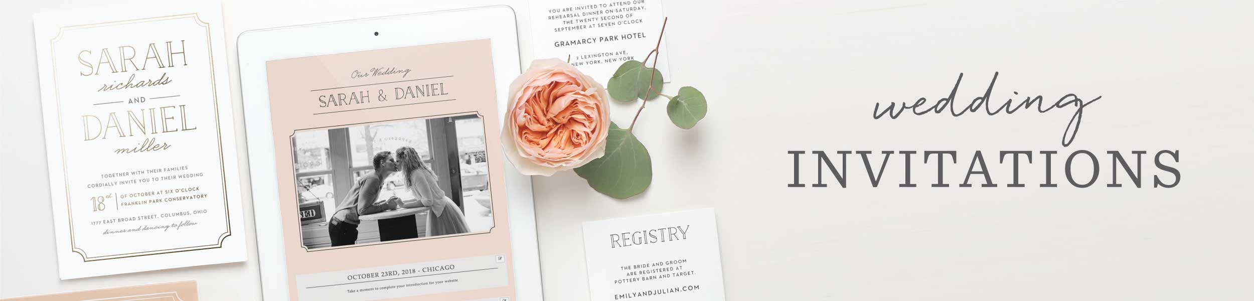Autumn Wedding Invitations - Match Your Color & Style Free!