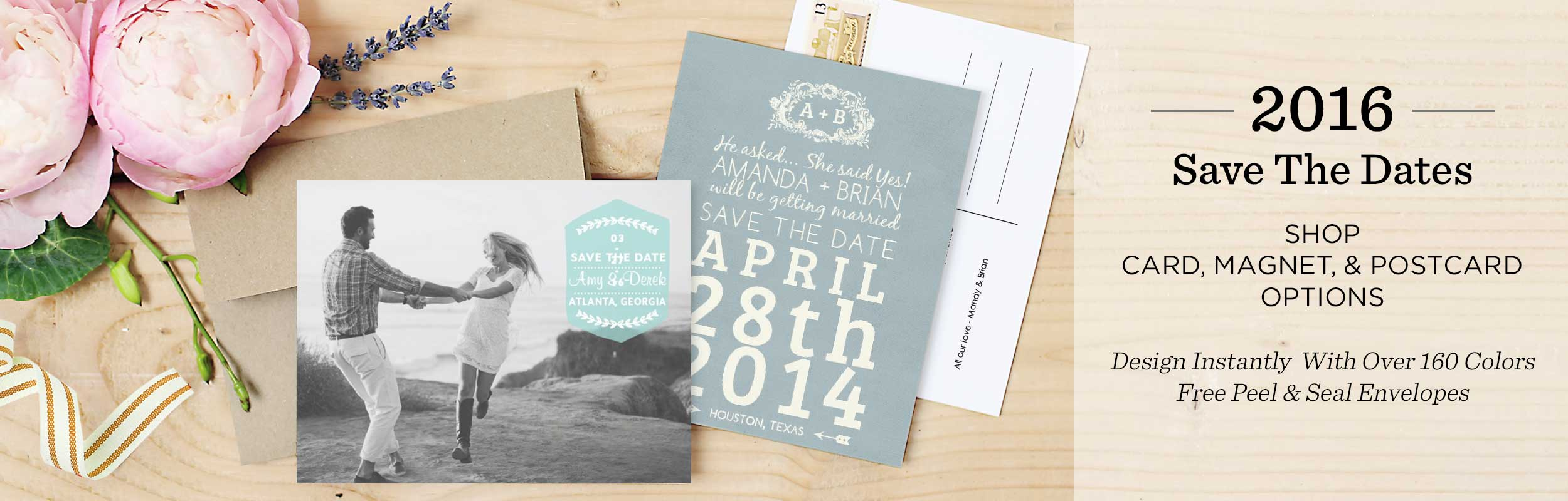Save the Date Postcards | Wedding Paper Divas