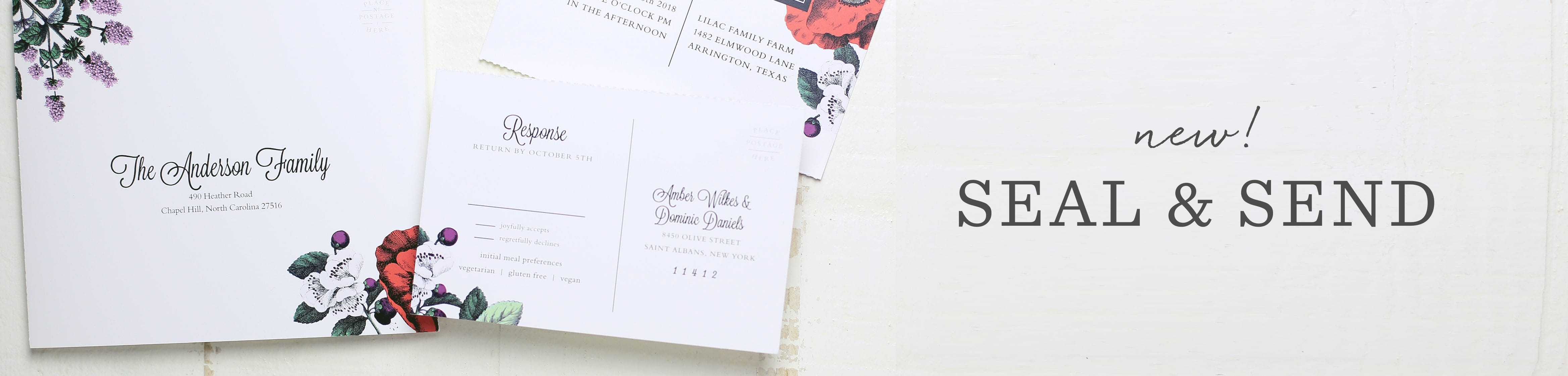 wedding invitations and reply cards