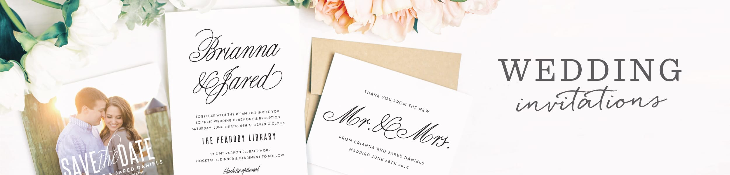 Utah Wedding Invitations | Match Your Color & Style Free! - Basic Invite