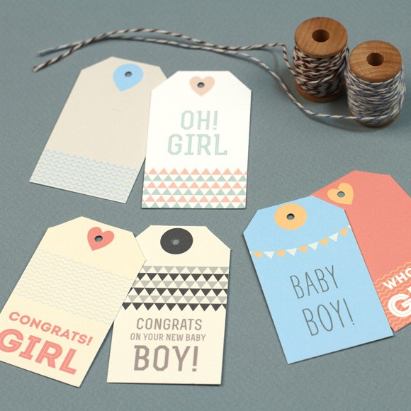 Lively image in free printable baby shower gift tags