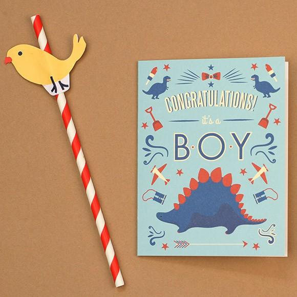 dinosaur congratulations baby card printable by basic invite