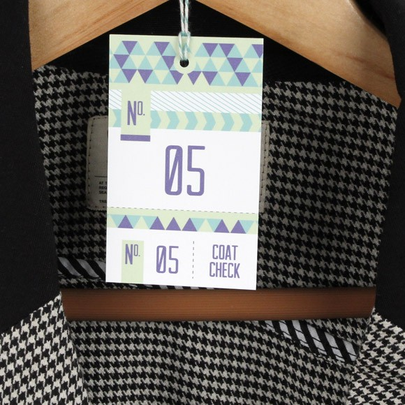 Triangular coat check printable by basic invite for Coat check tickets template