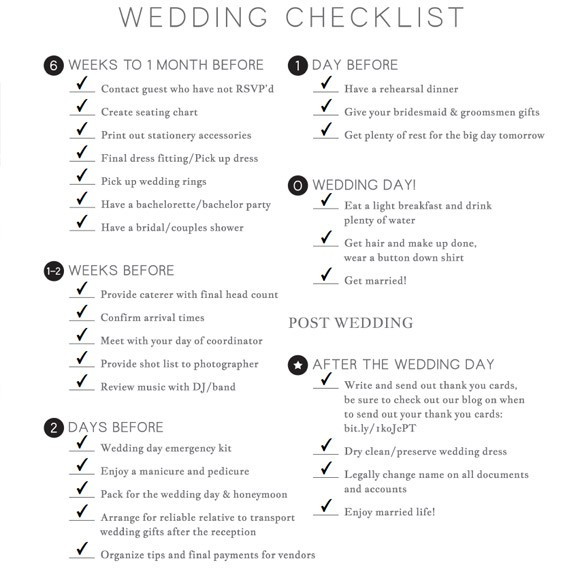 Wedding Checklist Printable by Basic Invite