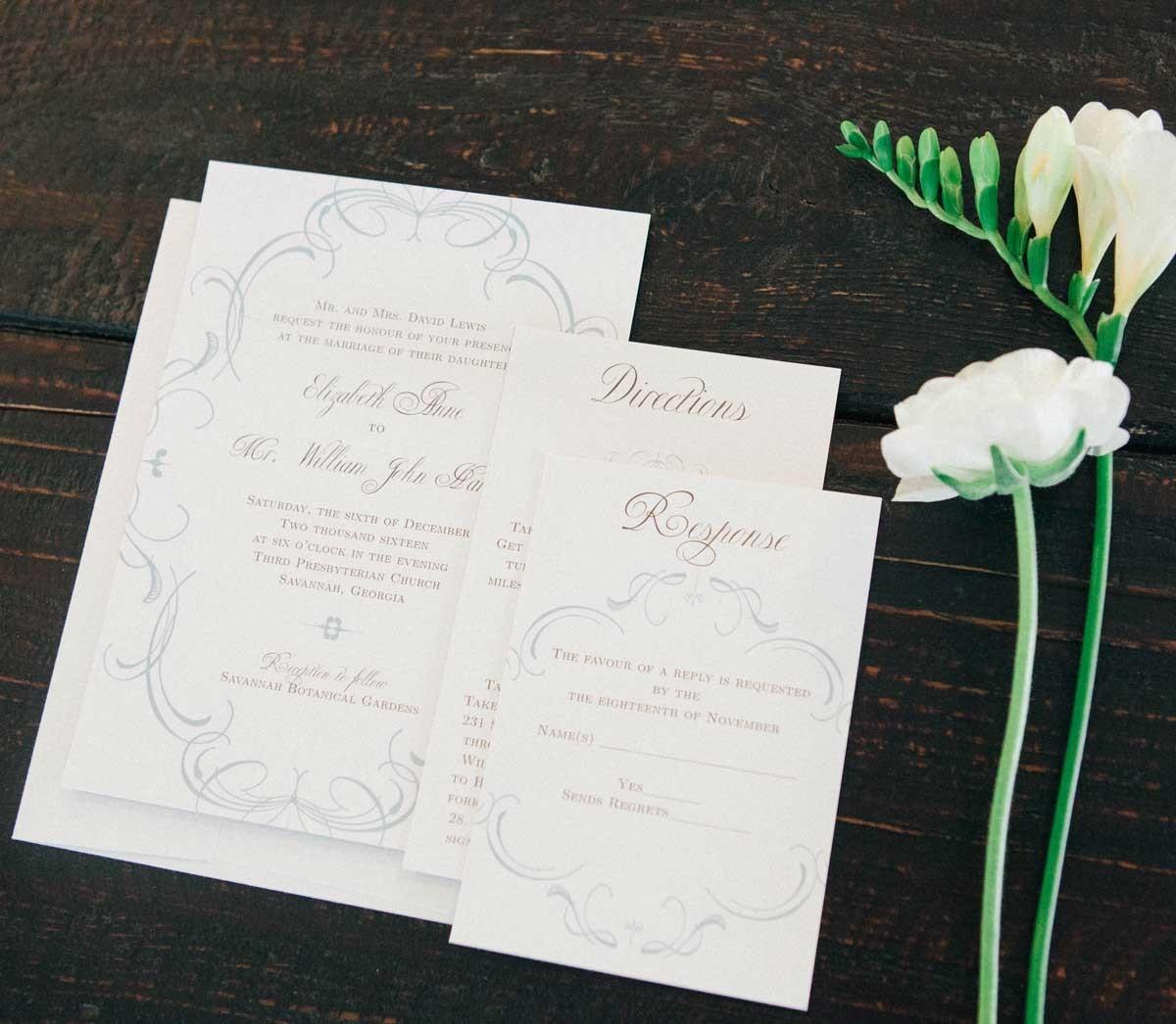 The Flourish Charm Wedding Invitation