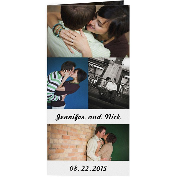 The Tea Photo Collage Wedding Invitation