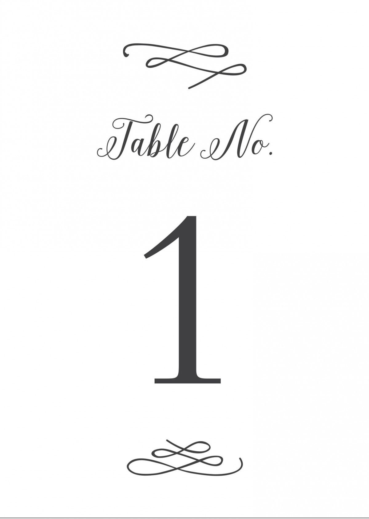 whimsical calligraphy table number printables by basic invite