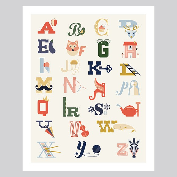 Alphabet Poster - Large Printable