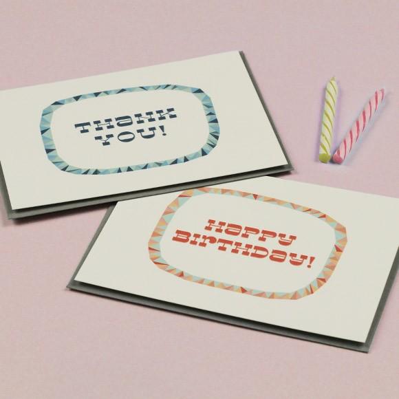 Modern Angle Cards Printable