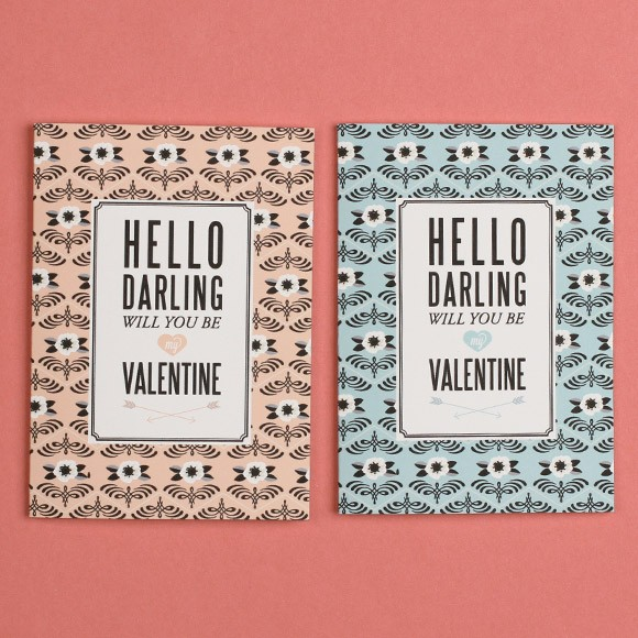 Valentines Day Darling Card Printable