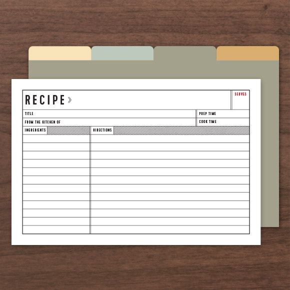 Official Recipe Cards