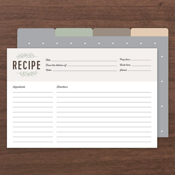 Laurel Recipe Cards