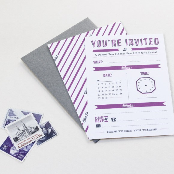 Time Card Invitation Printable