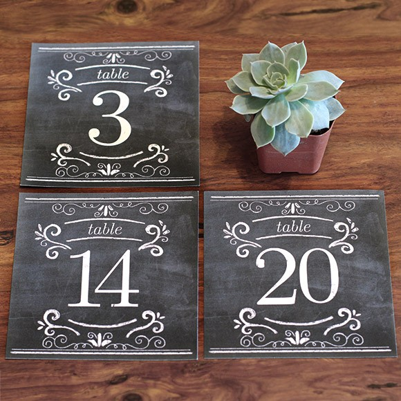 Chalkboard Table Numbers  Printable