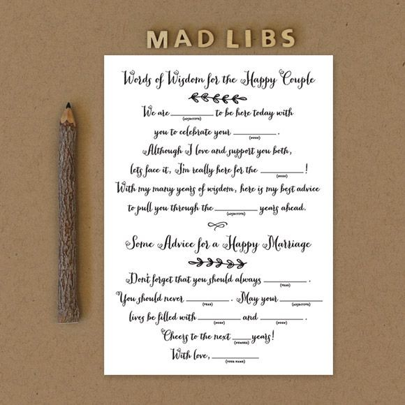Rustic Country Mad Libs  Printable