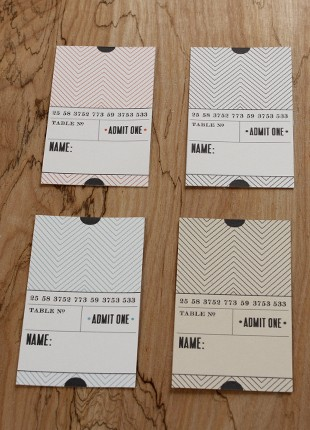Ticket Place Cards Printable