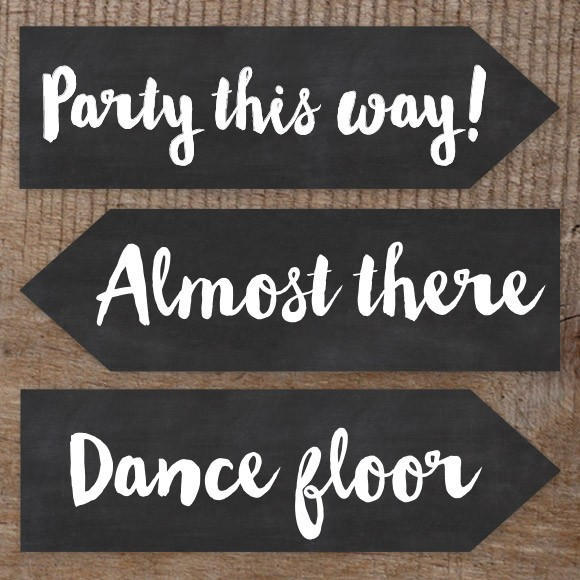 Rustic Chalkboard Wedding Signs