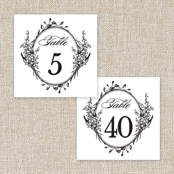 Antique Chic Table Numbers