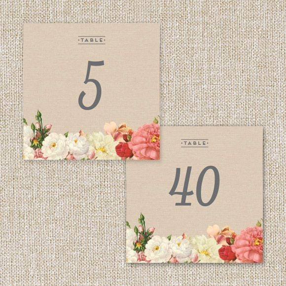 Le Jardinier Table Numbers