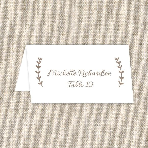 Back to Nature Place Card