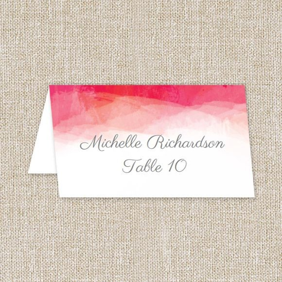 Watercolor LVD Place Cards