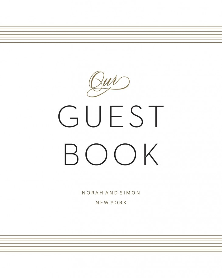Deco Type Guest Book Sign Printable