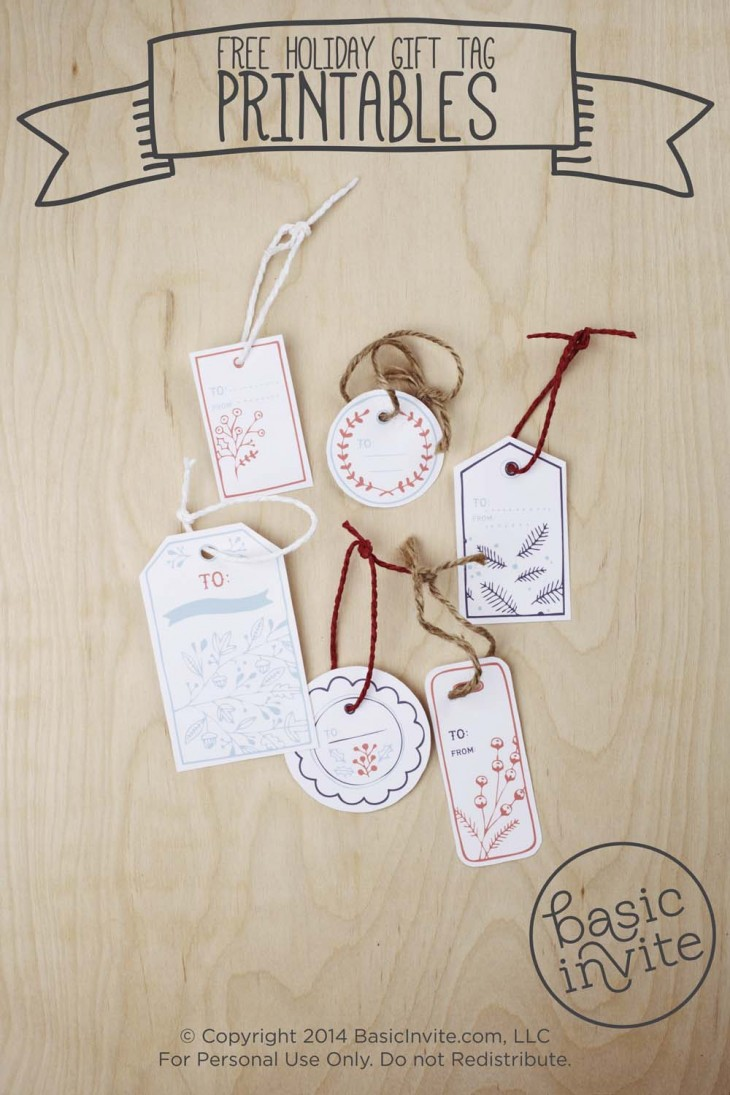 Holiday Gift Tag Printable