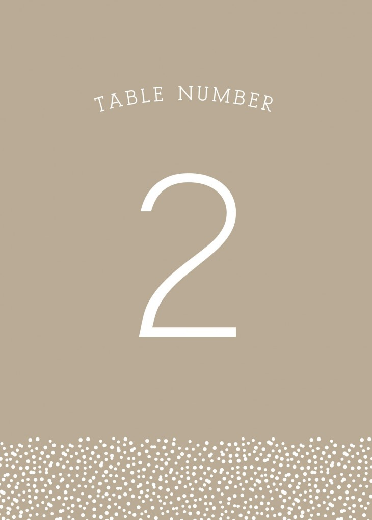 Confetti Dots Table Numbers Printable