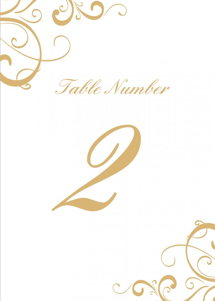 Simple Swirls Table Numbers Printable