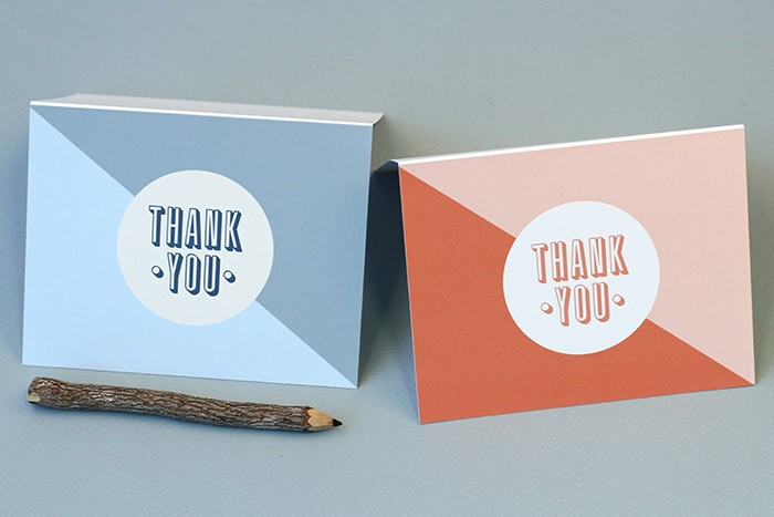simple thank you cards printable by basic invite