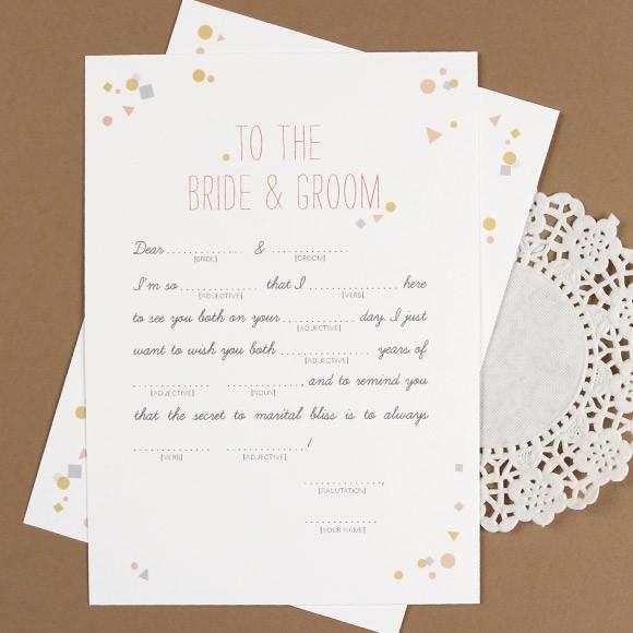 Confetti Mad Libs Printable By Basic Invite