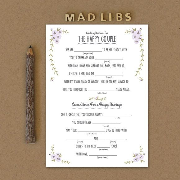 Rustic mad libs printable by basic invite for Guest libs wedding edition template