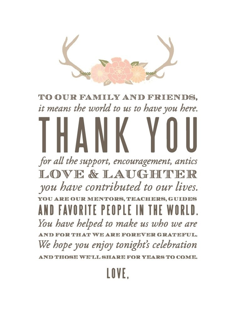 blooming antlers thank you cards printable by basic invite
