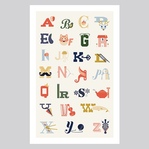Alphabet Poster - Medium Printable