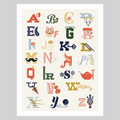 Alphabet Poster - Small Printable