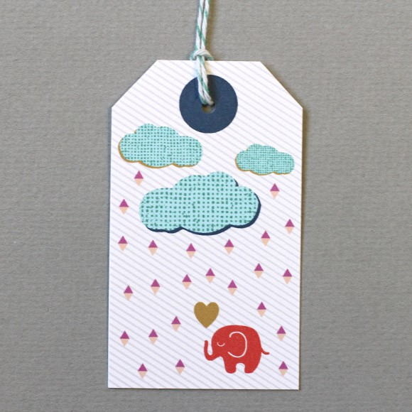 "Elephant Gift Tags size: 1 5/8"" x 3 7/8If you've been invited to a Baby Shower, these baby gift tags are perfect to use for your gifts!"