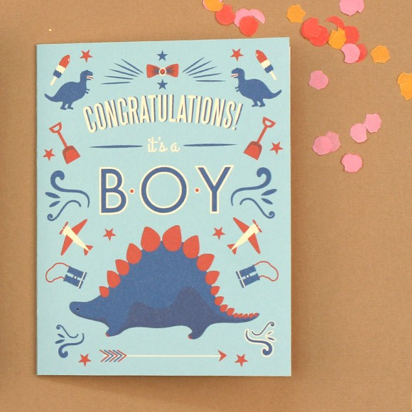 Dinosaur Congratulations Baby Card Printable