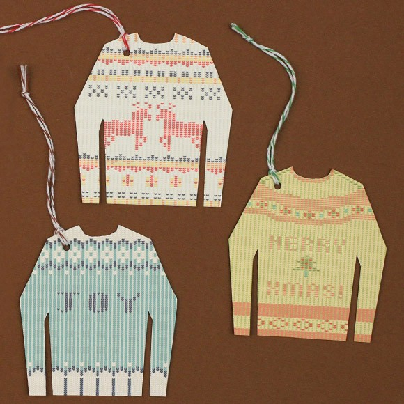 "Size: 2.6"" x 2.8""Who doesn't like Ugly Sweaters during the holidays?! These simple to make gift tags are perfect for adorning your holiday packages and gifts. We recommend printing these ugly sweaters on a nice card stock. Have fun!"