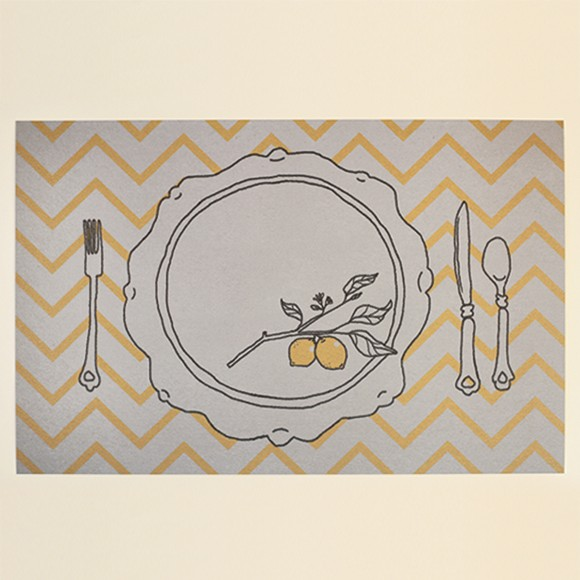 Lemon Placemat Printable
