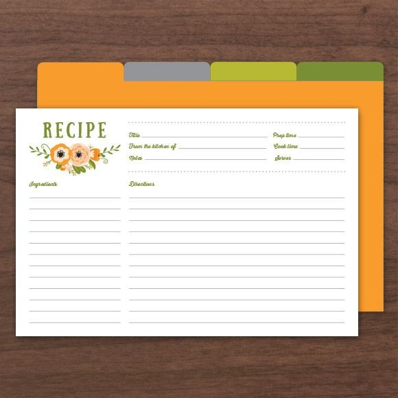 Botanical Recipe Cards