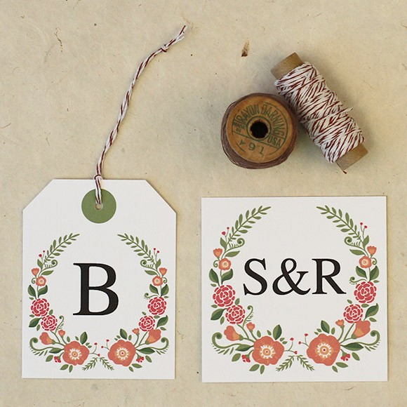 Floral Favor Tags Printable