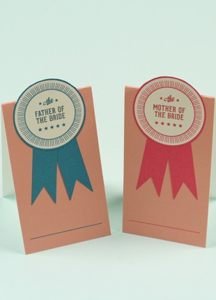 Pop-up Ribbon Place Card Printable