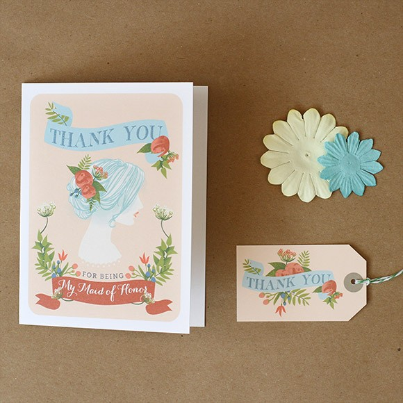 Thank you for being my Maid of Honor Card Printable